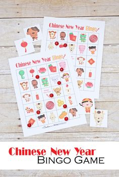 Chinese New Year Bingo Game New Year's Games, Bingo Games, Chinese New Year Activities, Chinese New Year Crafts For Kids, New Year's Eve Crafts, New Year Printables, Bible School Crafts, Family Crafts, Preschool Activities