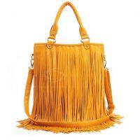 Bolsa com Franja_Amarelo