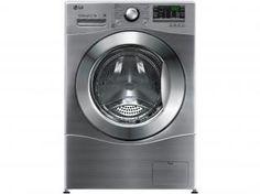 Lava e Seca LG WD1485AT7 8,5kg Inox - Água Quente com 14 Programas de Lavagem