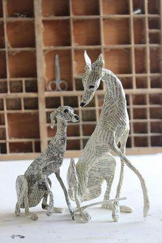 Sculpture Textile, Book Sculpture, Modern Sculpture, Paper Mache Sculpture, Paper Mache Projects, Paper Mache Clay, Paper Clay, Victorian Dollhouse, Modern Dollhouse