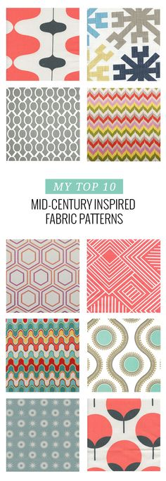 10 Mid-Century Inspired Fabric Patterns | dreamgreendiy.com + @buyfabrics