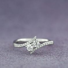 Another perfet option! I love this! Ever Us™ Two Stone Diamond Ring Featuring Signature Forevermark Diamonds 18K