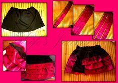 Mikka's DIY pink and black dress1