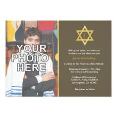 Elegant Monogram Bar Mitzvah with photo Custom Invites we are given they also recommend where is the best to buyShopping          	Elegant Monogram Bar Mitzvah with photo Custom Invites lowest price Fast Shipping and save your money Now!!...