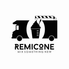 The concept used for Remicone's brand identity is a laboratory in a truck that makes soft ice-creams. The take-out ice-cream cups that resemble beakers, the droppers used to put syrup into the ice-cream, and laboratory-inspired containers used to store the toppings for the ice-cream are all brand elements that are designed to provide a unique, fun experience to the café's customers.