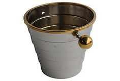 Loving the Deco lines of this champagne bucket.