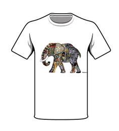 """MARA INK & WWF:  This elephant is inspired by African patterns and colors. The reason why it is called """"Let Me Live"""" is because there are so many elephants who are killed for their ivory. If you buy this specific t-shirt you will support WWF's work towards saving the Elephant which is an endangered species.  read more about donating to WWF to save an elephant here:  www.wwf.no/elefantfadder"""