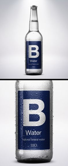 Free PSD. B water | Natural Mineral Water Packaging.