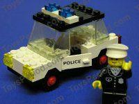 LEGO 6623 Police Car 100% Complete Vintage Town Set