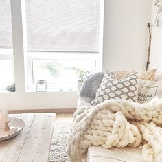 The coziest space. #white