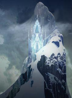 Walt Disney Animation - The Art of Frozen - Elsa's Ice Castle Deco Disney, Disney Love, Disney Magic, Disney Frozen, Disney Art, Frozen 2013, Frozen Frozen, Disney Wiki, Walt Disney Animation Studios