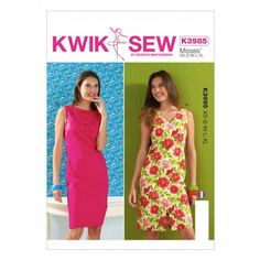 Kwik Sew Pattern 3985- Misses Dresses
