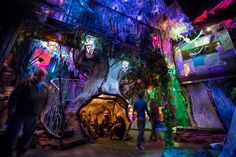 Meow Wolf's House of Eternal Return is a unique art experience in Santa Fe, new Mexico featuring a wild new form of non-linear storytelling which unfolds through. Meow Wolf Santa Fe, Sante Fe New Mexico, Duke City, Eternal Return, Las Vegas, Mexico Art, Interactive Art, Interactive Museum, Land Of Enchantment