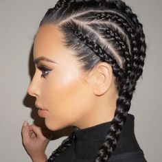 Forfil this look as seen on Kim K this weekend with a little help from Color Wow Root Cover Up! Image via @maneaddicts #rootcoverup #bbloggers #kimkardashian #boxerbraids #maneaddicts #kardashian #brunette #contour #hairoftheday #hairofinstagram #beauty #dubaibeautysalon #dubaibeautyblogger