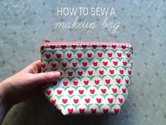 Learn how to sew your own makeup bag, no fancy hardware or unknown notions required!