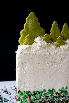Holly Jolly Vanilla Sprinkle Cake