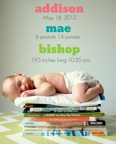 baby book picture / announcement