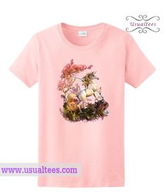 Unicorn Fantasy Light Pink T shirt from usualtees.com This t-shirt is Made To Order, one by one printed so we can control the quality.