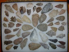 Frame of Texas arrowheads