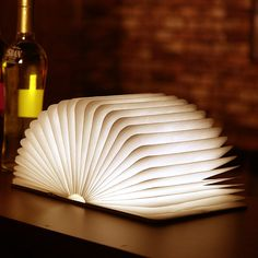 From your living room to your backyard, LED lamp can be transformed into multiple shapes. Big enough to light a dinner party, compact enough to fit in a small bag.Product Details:LED lamp is shaped as a hardcover bookwhen you open the special book, you will get a soft and comfortable lightLED lamp can be opened up to 360 degrees in order to provide multiple ways to deploy the mood lightIt's powered by a built-n battery that is rechargeable by USB port for portability feature