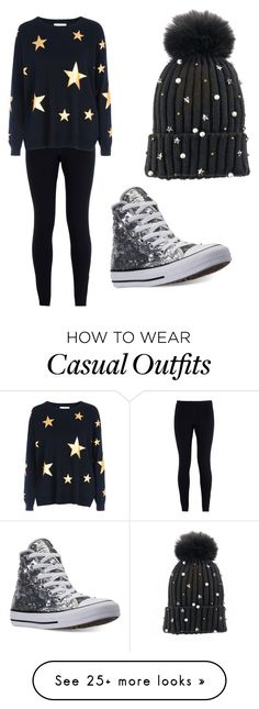 """""""Casual and comfortable"""" by valeloveschocolate on Polyvore featuring NIKE, Red Herring, Converse, madden NYC and StarOutfits"""