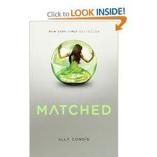 Matched by Allie Condie  Amazing this book and its sequal left me hanging and wanting more