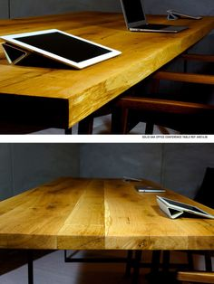 Artform solid oak tables, made from salvaged trees