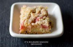 Rhubarb Ginger Crumb Bars
