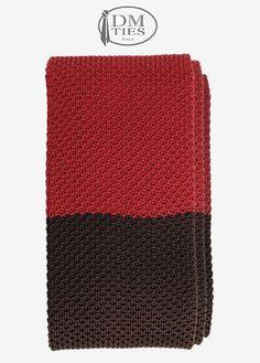 KNITTED SILK-SETA - Cravatta a maglia rosso SOTTOCOSTO