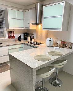 modern luxury kitchen design ideas that will inspire you 5 Small Kitchen Set, Small Modern Kitchens, Beautiful Kitchens, Home Decor Kitchen, Interior Design Kitchen, Home Kitchens, Hobby Design, Kitchen Seating Area, Garage To Living Space