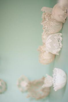 DIY lace dome backdrop