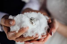 The cutest idea for a winter wedding! View the full wedding here: http://thedailywedding.com/2016/04/06/romantic-blizzard-elopement-wedding-veronica-nick/