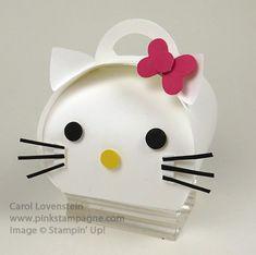 Curvy Keepsake – Hello Kitty Created by Carol Lovenstein, pinkstampagne.com Stampin' Up! Idea Papercrafting