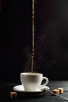 Hot coffee by Dina (Food Photography) on - Kaffee I Love Coffee, Black Coffee, Hot Coffee, Coffee Break, Morning Coffee, Expresso Coffee, Ninja Coffee, Espresso, Cappuccino Coffee