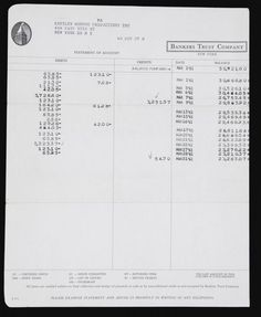 A Colonial Trust Company Bank Statement For Marilyn Monroe