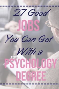 Learn what jobs you can get with a psychology degree or similar education. Explo… Learn what jobs you can get with a psychology degree or similar education. Explore career options for every level of psychology-related college training! Jobs With Psychology Degree, Psychology Internships, Colleges For Psychology, Psychology Studies, Forensic Psychology, Psychology Quotes, Educational Psychology, Color Psychology, Psychology University