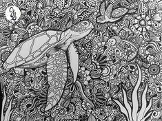 Sea Turtle Design by byjamierose on Etsy