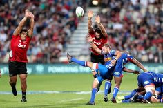 Dewaldt Duvenage Photos - Dewaldt Duvenage of the Stormers kicks from a ruck during the round two Super Rugby match between the Crusaders and the Stormers at AMI Stadium on March 2018 in Christchurch, New Zealand. - Dewaldt Duvenage Photos - 4 of 55 Super Rugby, Round Two, Crusaders, New Zealand, Marie, Kicks, Running, Photos, Racing