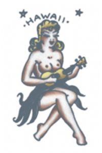 Vintage 1950´s Hawaii Girl