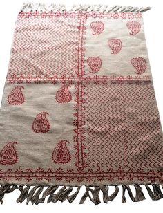 Turkish Kilim, Oriental Area Rug Floor Carpet Kelim Hand Block Print Dhurrie  #Handmade #ArtsCraftsMissionStyle Floor Rugs, Kilim Rugs, Bohemian Rug, Oriental, Arts And Crafts, Home And Garden, Flooring, Quilts, Handmade Gifts