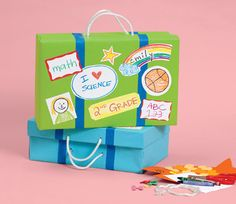 Crafts: Shoebox Portfolios. Let the kids decorate a shoebox to send home all the precious keepsake items from the year.