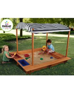 KidKraft Outdoor Sandbox with Canopy is on Rue. Shop it now.