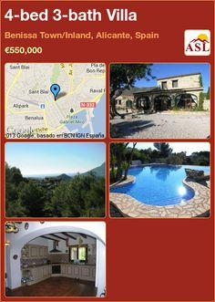 4-bed 3-bath Villa in Benissa Town/Inland, Alicante, Spain ►€550,000 #PropertyForSaleInSpain