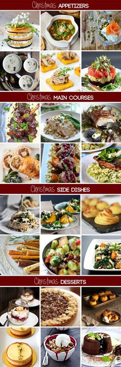 christmas recipes *meals, dinner, menu, appetizers, main courses, side dishes, desserts