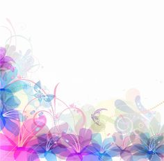 Pastel Floral Vector Illustration