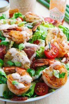... green tomato po boy salad blackened shrimp and fried green tomato po