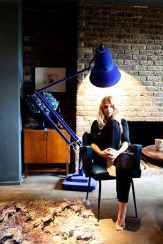 abigail ahern « the selby Blue lamp Interior Exterior, Interior Design, Victorian Terrace House, Abigail Ahern, Anglepoise, I Love Lamp, Modern Lighting, Interior Inspiration, Interior Ideas