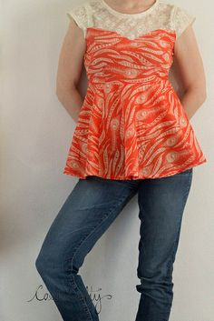 Peplum blouse by Casa Crafty.