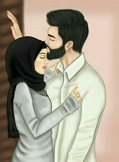 Image about girly in couples😍💑 by ~ Love Cartoon Couple, Cute Couple Art, Cute Love Cartoons, Anime Love Couple, Cute Muslim Couples, Cute Couples, Muslim Couple Photography, Islam Marriage, Couple Sketch