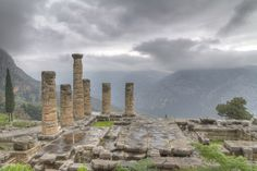 Temple of Apollo at Delphi - where I fell and almost cracked my elbow on all the marble steps....on my 21st birthday :/